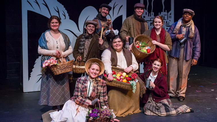 Theatre students performing in My Fair Lady