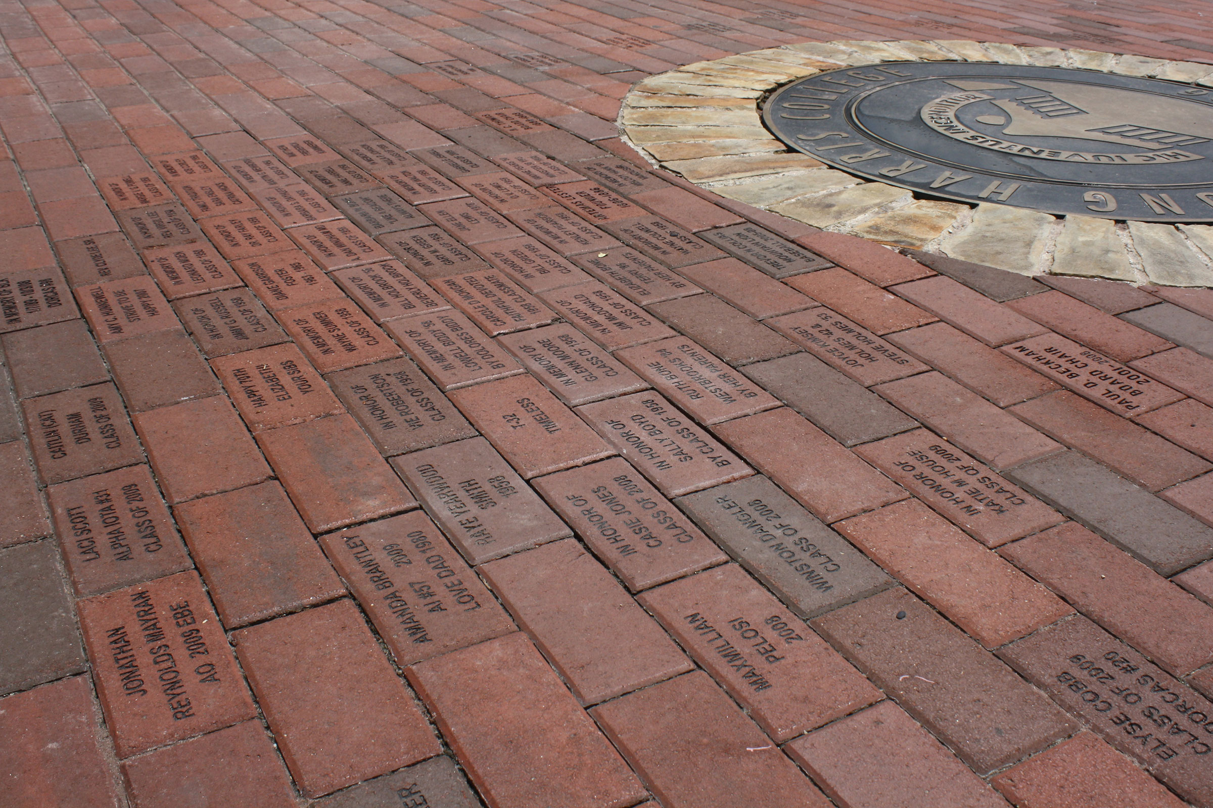 campus brick walkway
