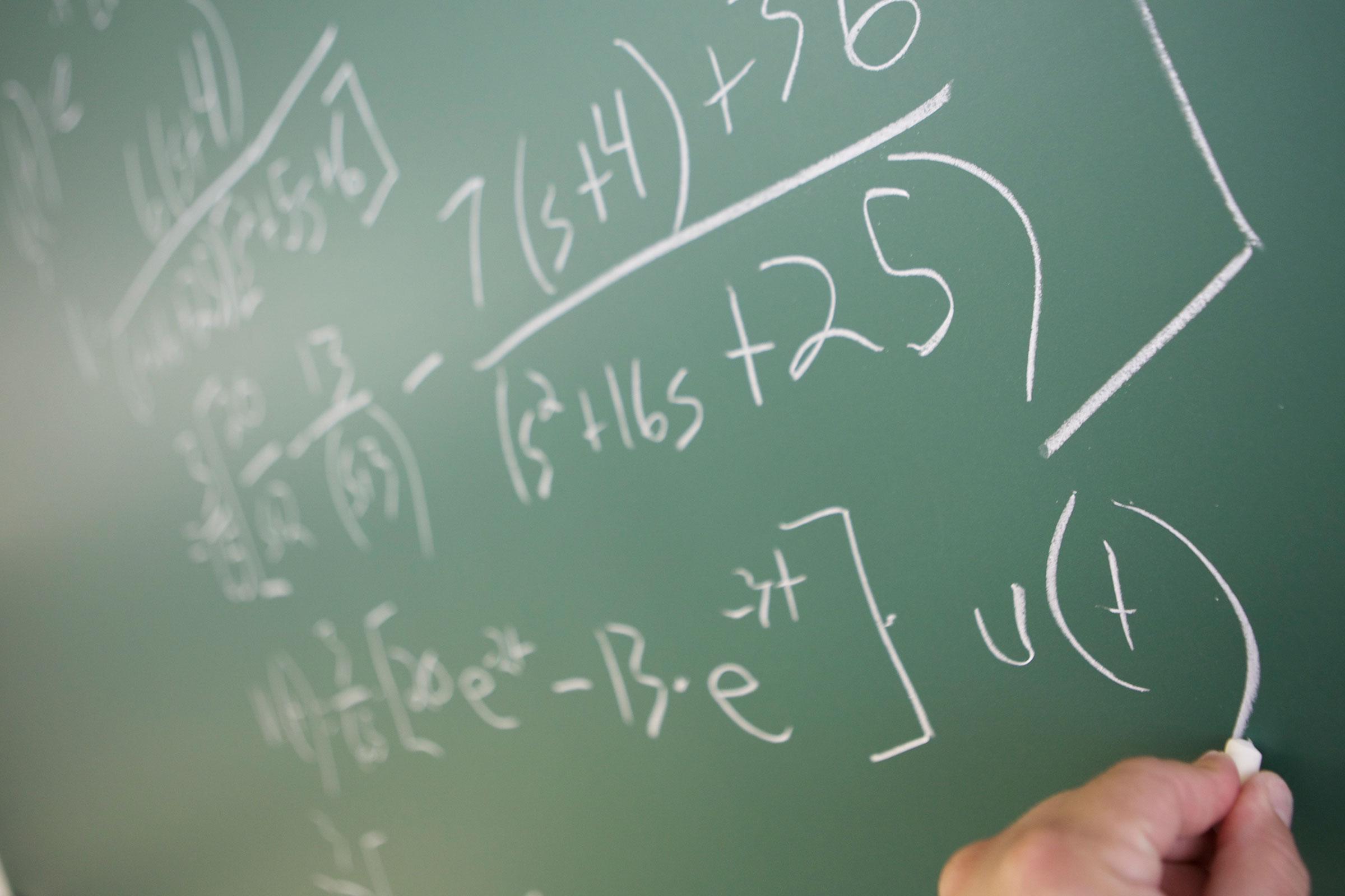 math equations on chalk board