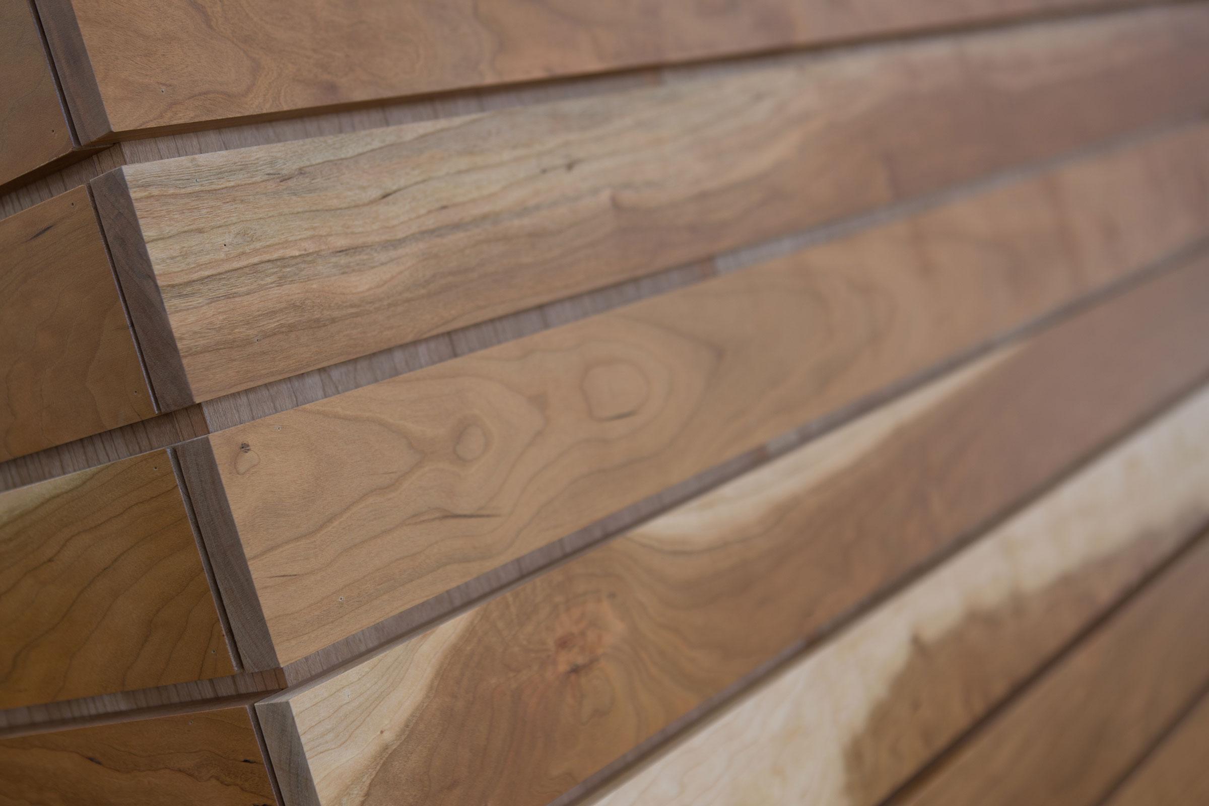 wood wall corner close up