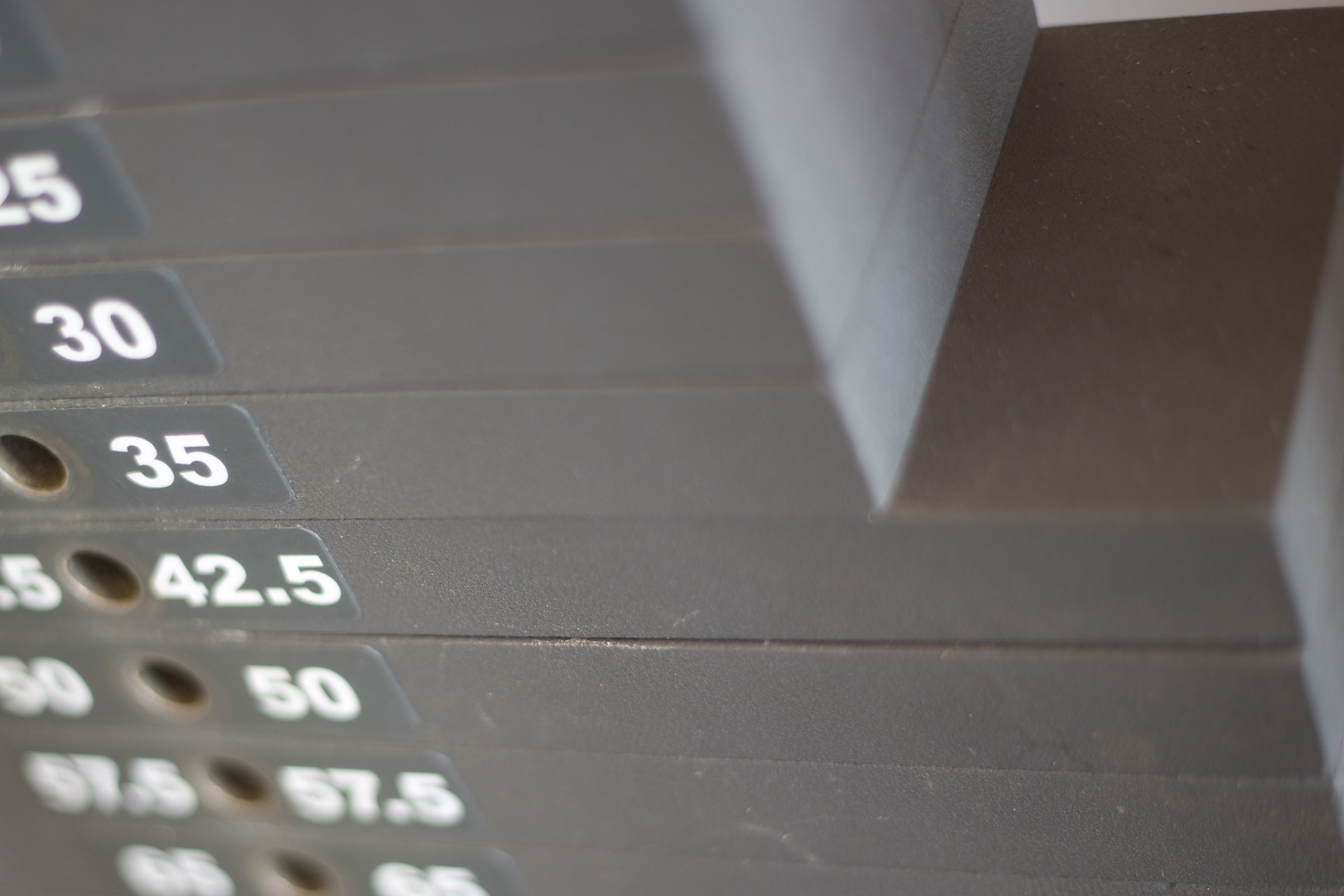 weights close up