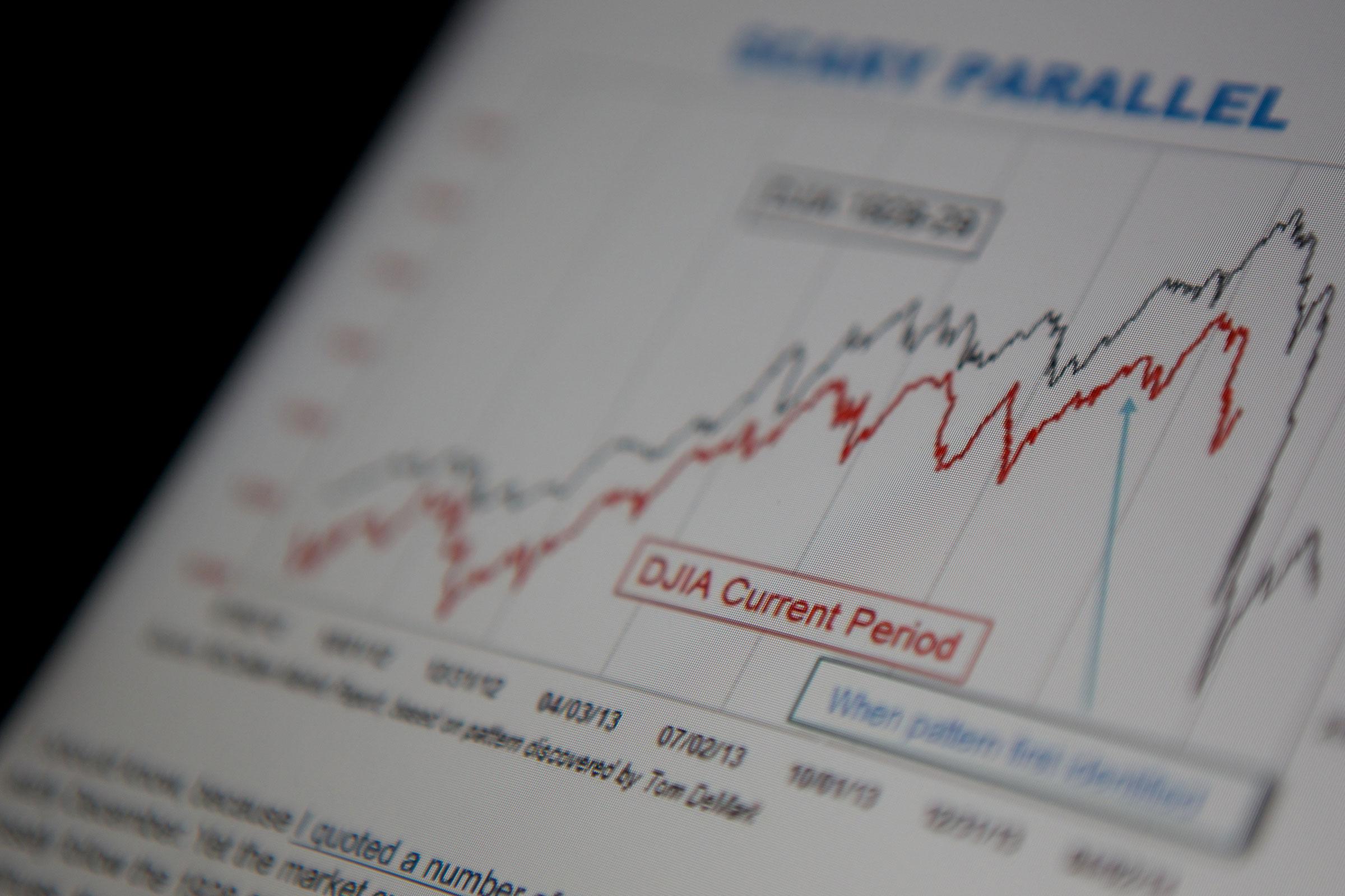 stocks line graphs