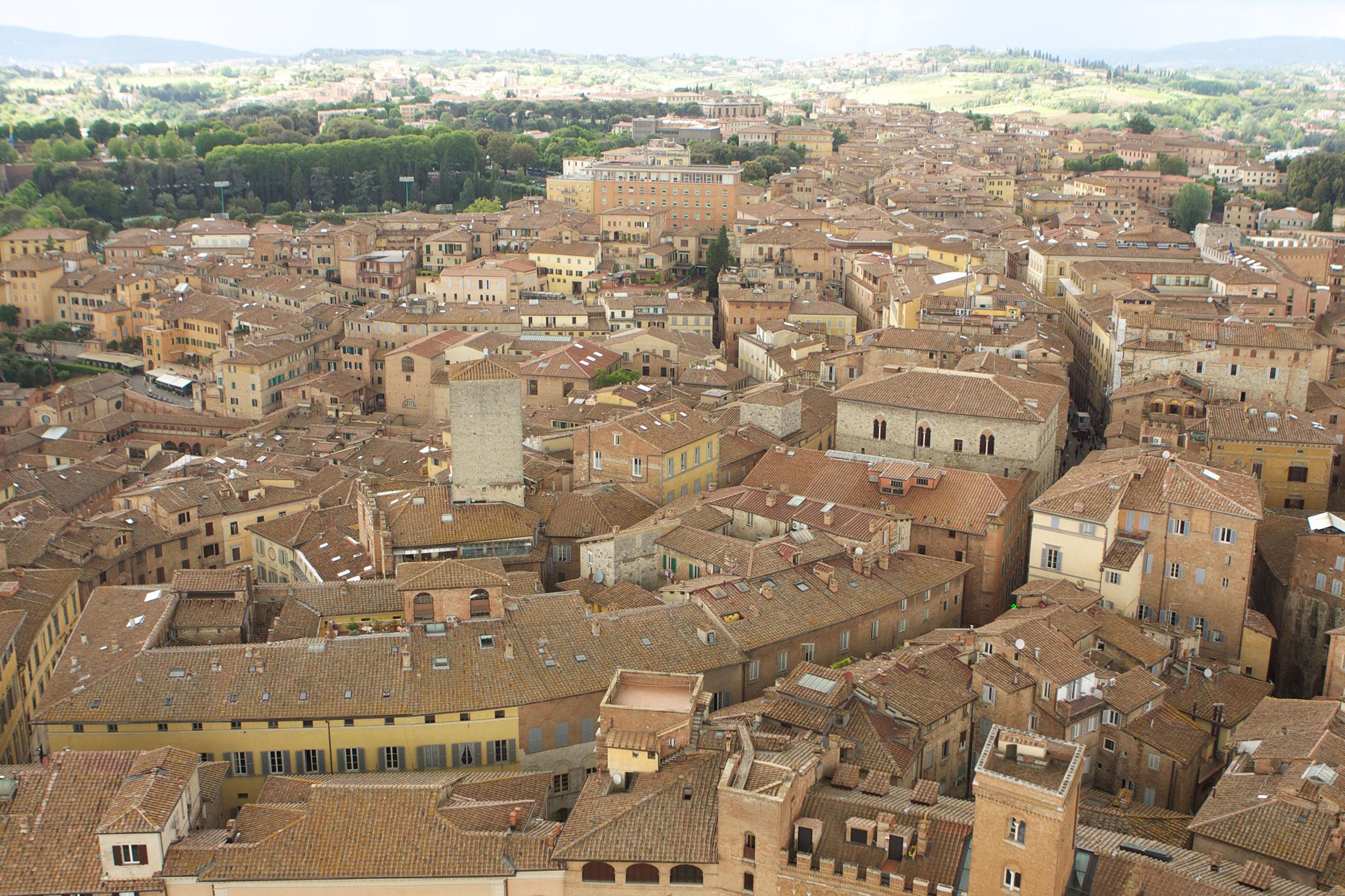 italian city aerial view