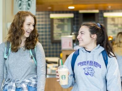 YHC students getting coffee