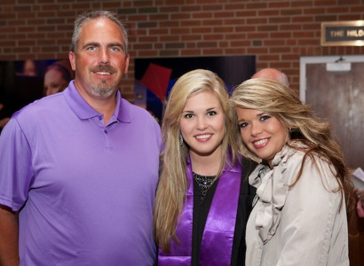 graduate with parents