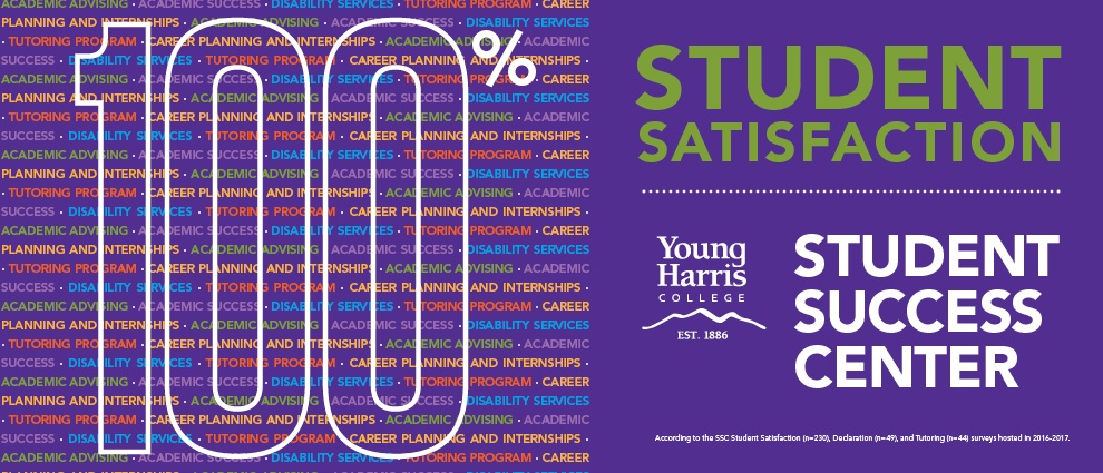 The Student Success Center had a 100 percent student satisfaction rate in 2016-2017.
