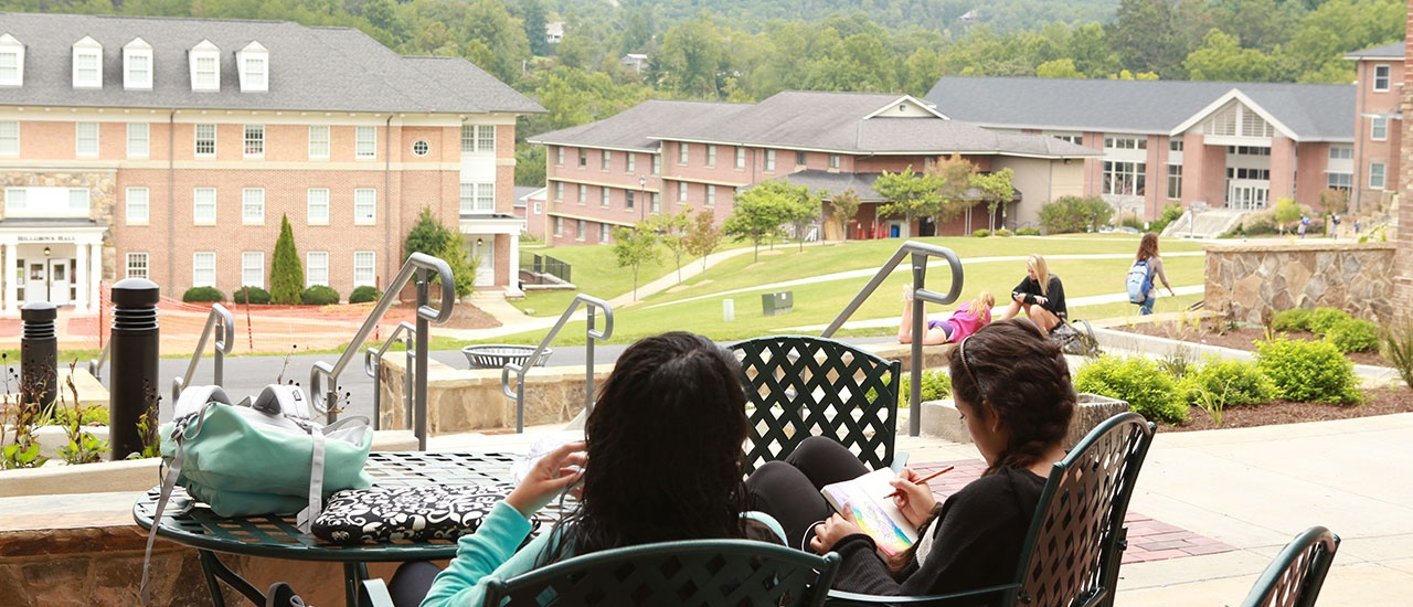 students studying on yhc towers