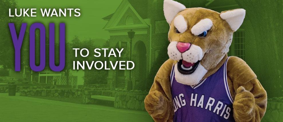 luke mascot stay involved
