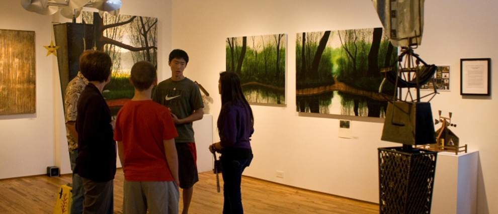 campus gallery visitors