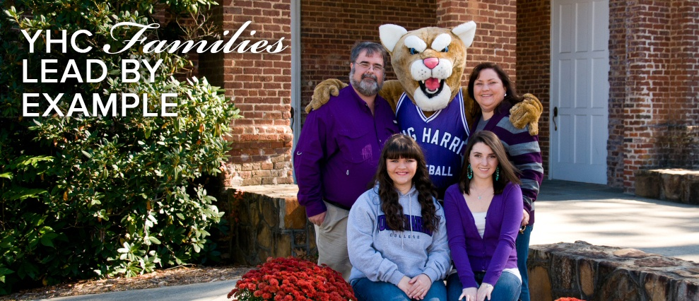 family with yhc mascot