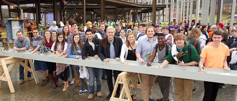 growth campus center topping out