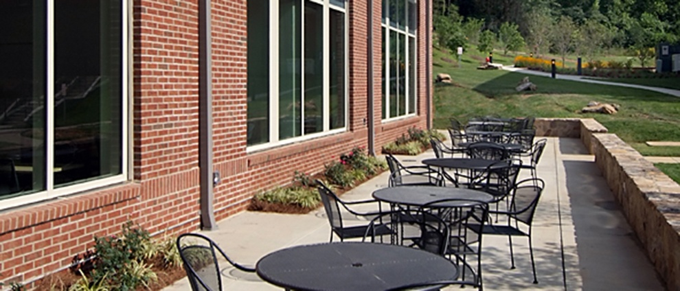 recreation center outside tables