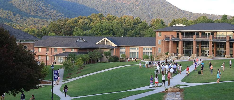 dorm building outside