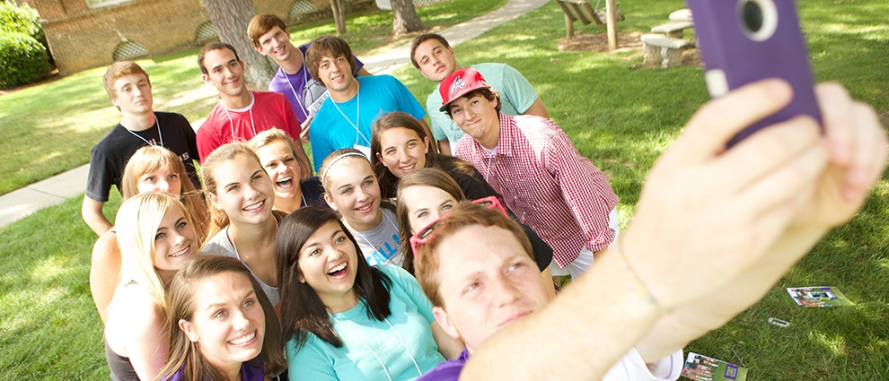 student group selfie