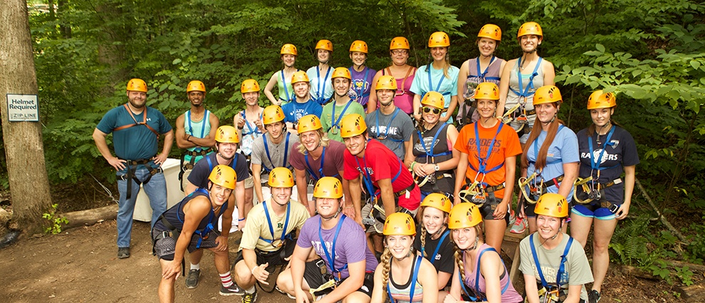 whitewater rafting group photo