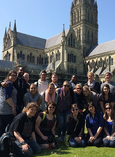 study abroad students in london
