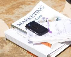 marketing textboox and calculator