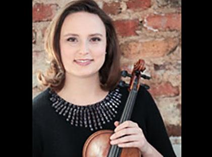 Violinist Dr. Rachael Fischer