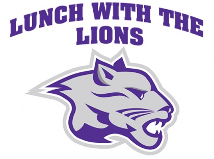 lunch with the lions logo