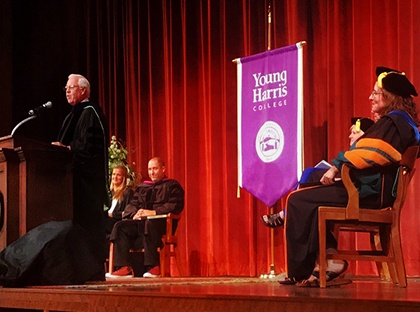 The Young Harris College academic year opened for learning on Aug. 15 during the annual Convocation Ceremony