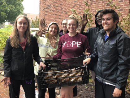 YHC students recently planted 200 daffodil bulbs on the YHC campus as part of The Daffodil Project.