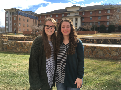 YHC students Taylor Anderson (left) and McKenna Maulden (right) were the only two undergraduate students to attend a conference hosted by the American Educational Studies Association (AESA) in Greenville, S.C. this past November.