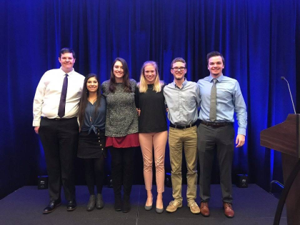YHC students Darrien Henson, Mallory Downs, Aubrey Crowell, Caroline Cox, Mark Howington, Robert Moser and Hannah Walker (not pictured) presented their research on the Southern Appalachian Snorkeling Trail as part of the Appalachian Regional Commission's Appalachian Teaching Project at the annual conference in Washington, D.C. Harrison Scott and David Thompson also participated in the research but are not pictured.