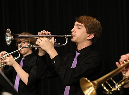 jazz band trumpet player