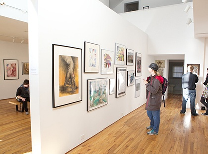 student juried art exhibition gallery