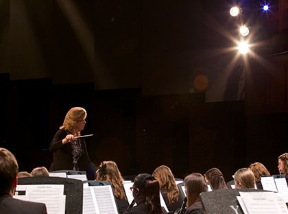 "Young Harris College Concert Band will present ""Music of the Macabre,"" a mixed media concert that will including dance, interactive media and more."