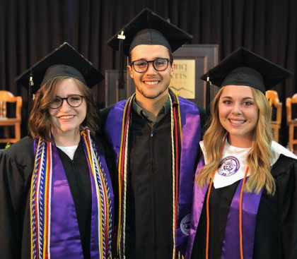 Young Harris College graduates at Commencement