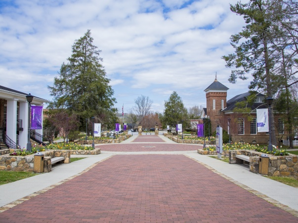 The plaza at Young Harris College